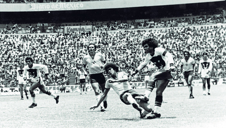Hugo Sánchez dispara a puerta contra América