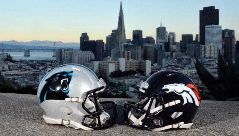 Thumbnail Cascos de Panteras y Broncos en San Francisco