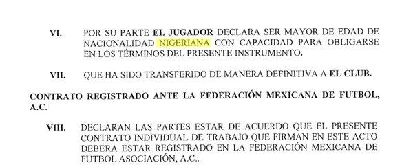 Error en el contrato de Gignac
