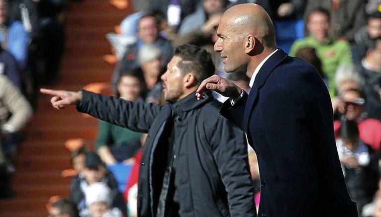 Thumbnail Simeone y Zidane dan indicaciones duarnte el Derbi madrileño