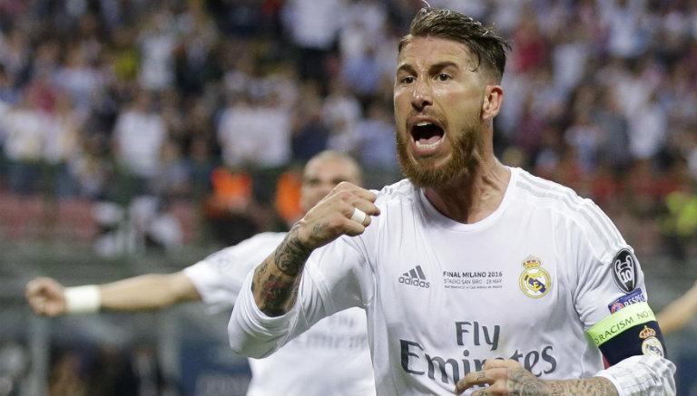 Thumbnail Sergio Ramos festeja gol del Real Madrid