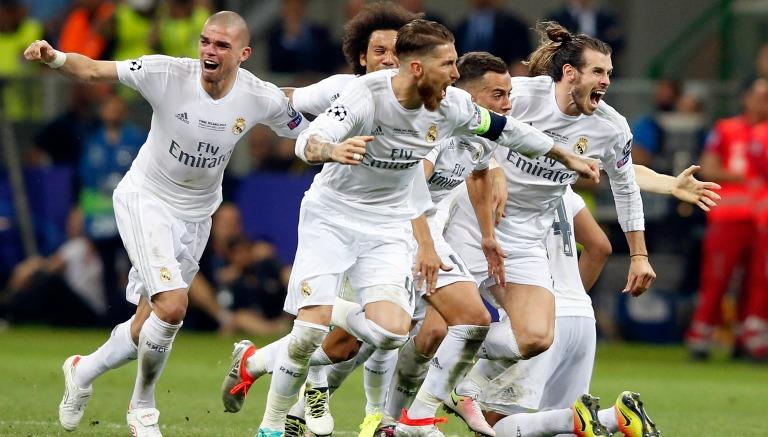 Thumbnail Jugadores del Real Madrid celebrando el título de Champions