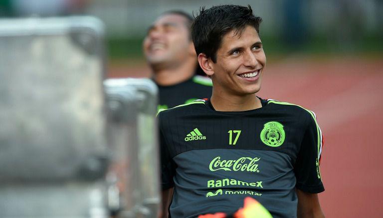 Damm en un entrenamiento de la Selección Mexicana