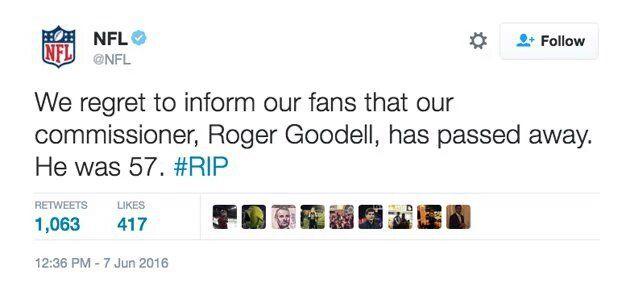 El tuit que publicaron los hackers en la cuenta de la NFL