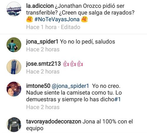 Conversación entre aficionados de Rayados y Orozco