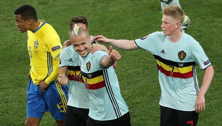 Thumbnail Radja Nainggolan celebra el gol que le marcó a Suecia en la Eurocopa