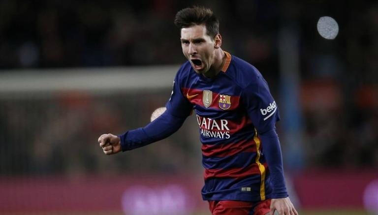 Lionel Messi celebra uno de sus goles con el Barcelona