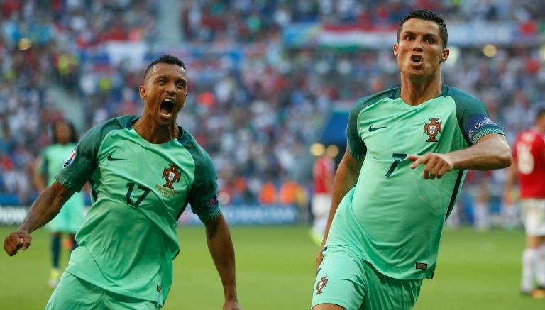 Cristiano Ronaldo celebra un gol con Portugal en la Eurocopa