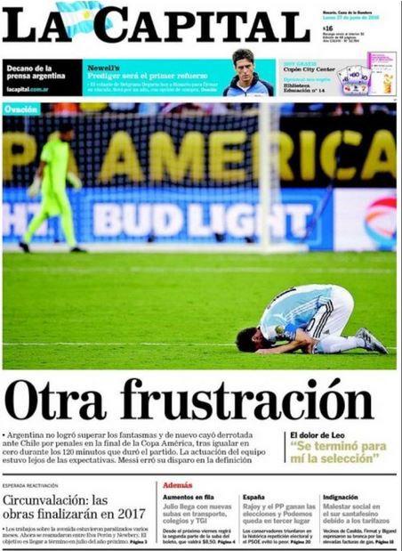 Los tabloides sudamericanos afirmaron terminar frustrados