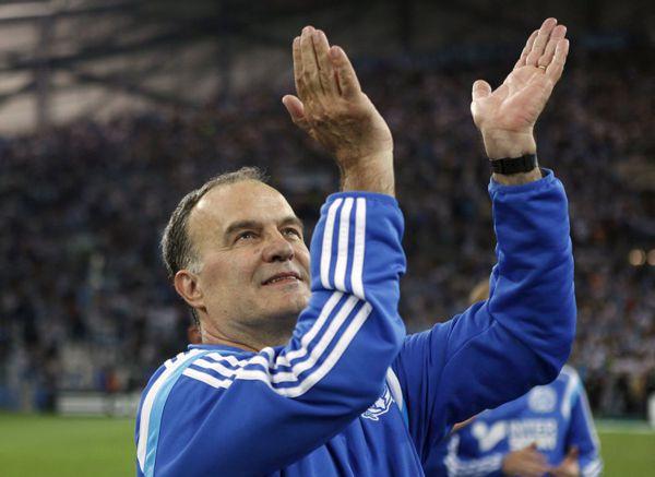 Bielsa aplaude tras partido del Marsella