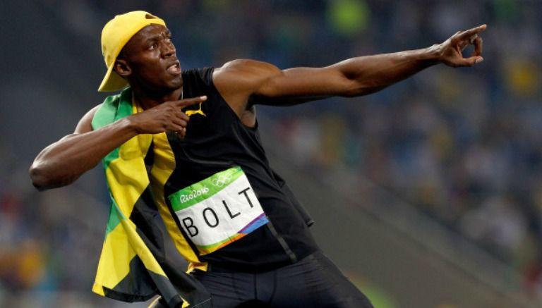Thumbnail Bolt celebra una de sus medallas de oro en Río 2016