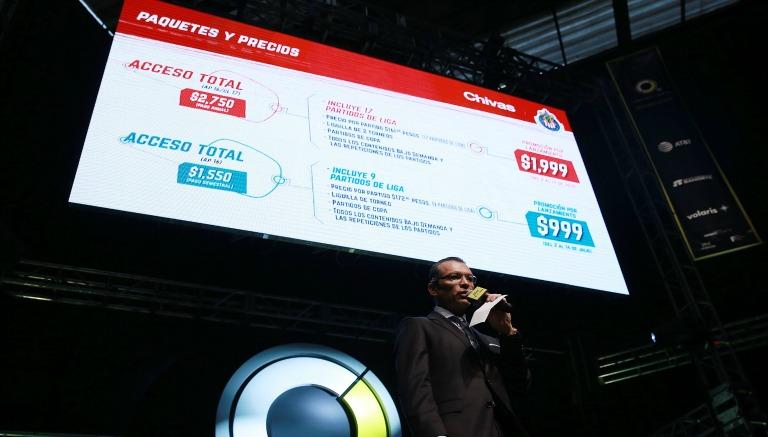 Thumbnail José Luis Higuera durante la presentación de Chivas Tv
