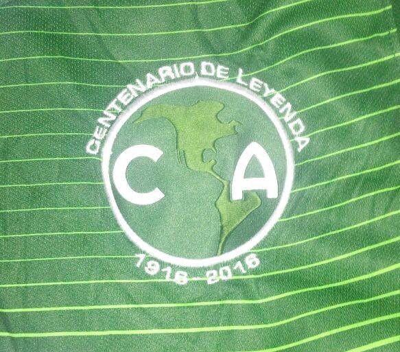 Escudo en verde y blanco de la playera del América