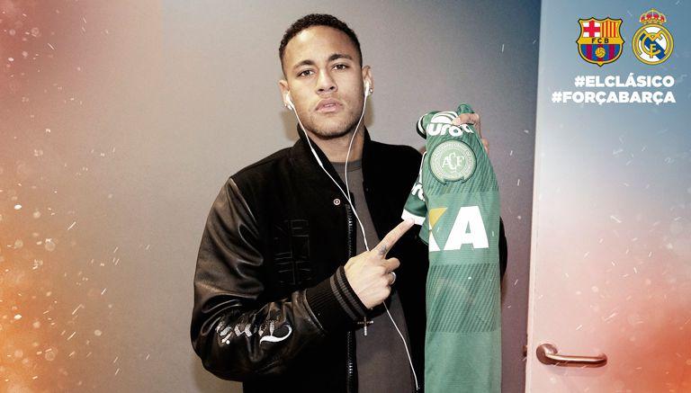 Thumbnail Neymar muestra el jersey del Chapecoense