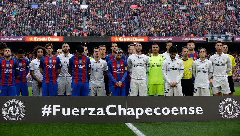 Thumbnail Jugadores posan con una leyenda para el Chapecoense