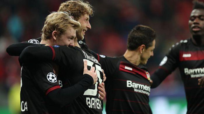 Brandt celebra su gol contra el Mónaco