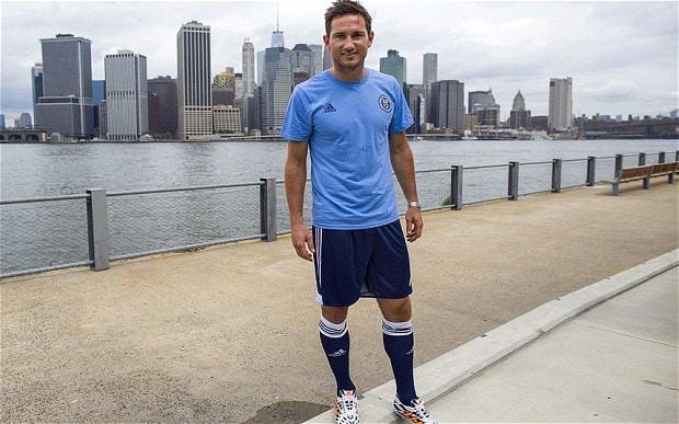 Frank Lampard posa en la ciudad de Nueva York