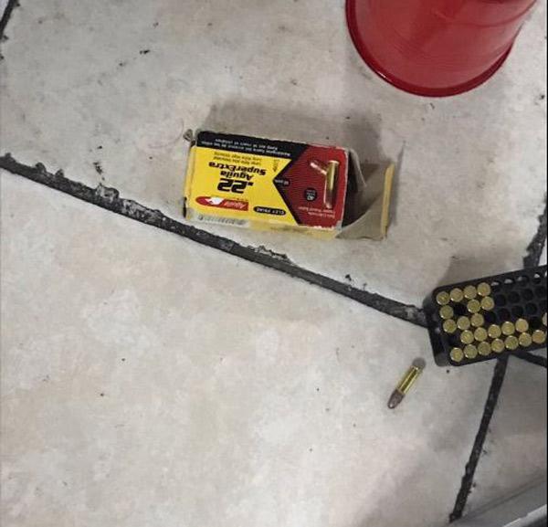 Las balas dentro del salón de clases