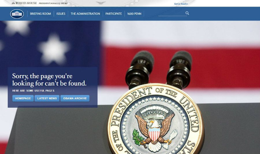 Trump elimina la versión en español de la web de Casa Blanca