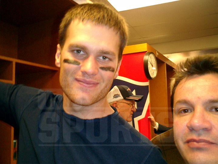 Brady y Ortega, durante el Super Bowl XXXIX