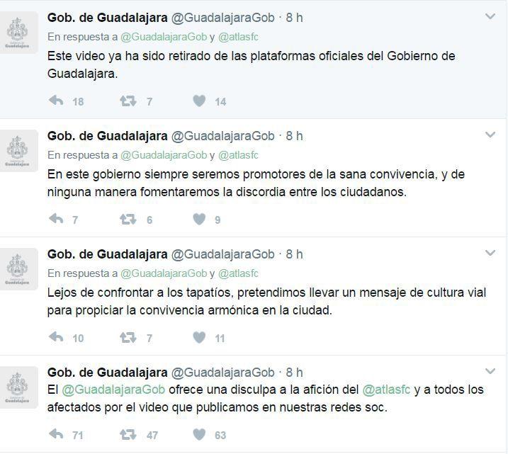 Gobierno de Guadalajara genera polémica por burla hacia Atlas