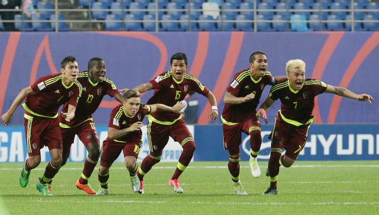 Los jugadores de Venezuela festejan el pase a la Final