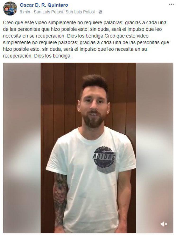 Un familiar de Leo agradeció el mensaje de Messi