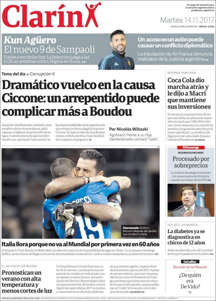 Italia llora porque no va al Mundial por primera vez en 60 años