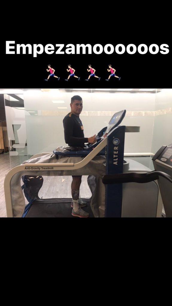 Nico Castillo en su proceso de recuperación