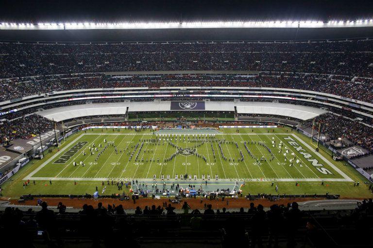 Estadio Azteca, durante el juego entre Texans y Raiders