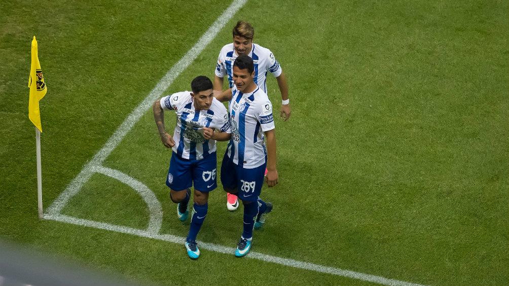 Víctor Guzmán celebra el gol del empate en los últimos minutos