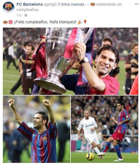 Felicitación del Barça a Rafa