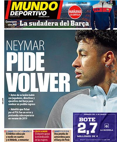 Neymar se habría ofrecido para regresar al FC Barcelona 1