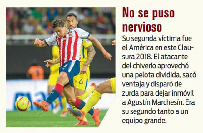Vacunó al América con golazo en el Clásico Nacional
