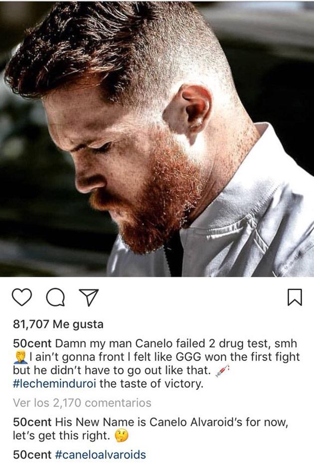 El rapero ataca al Canelo Álvarez