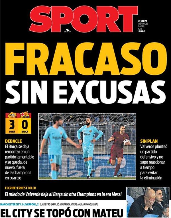 Una portada completamente negra para el diario catalán