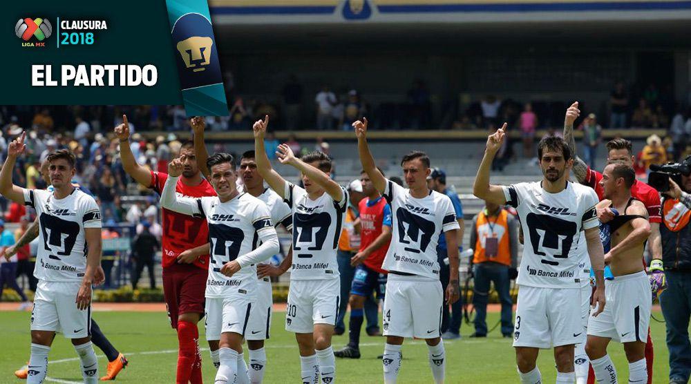 Pumas festeja con su afición el triunfo de la J15