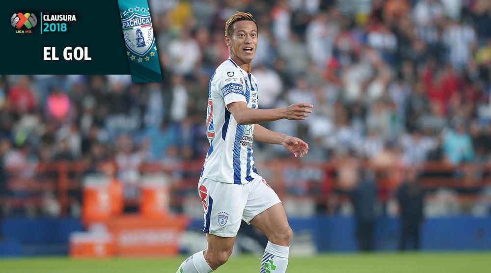 Keisuke Honda festeja gol contra Santos