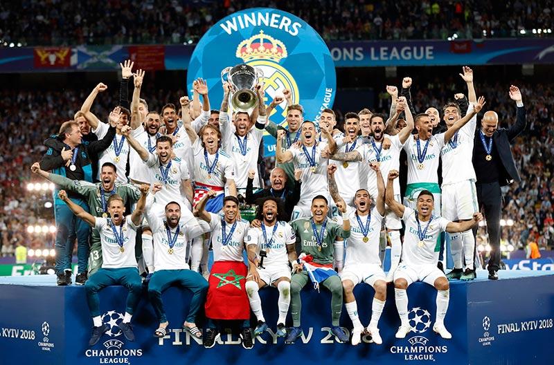 El Madrid celebra el Tricampeonato en Champions