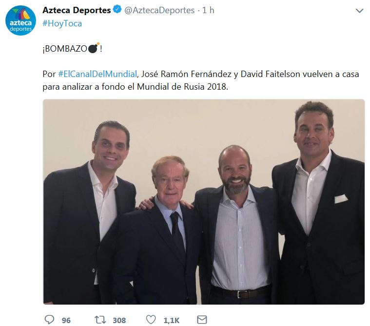 TV Azteca presume regreso de Faitelson y Joserra