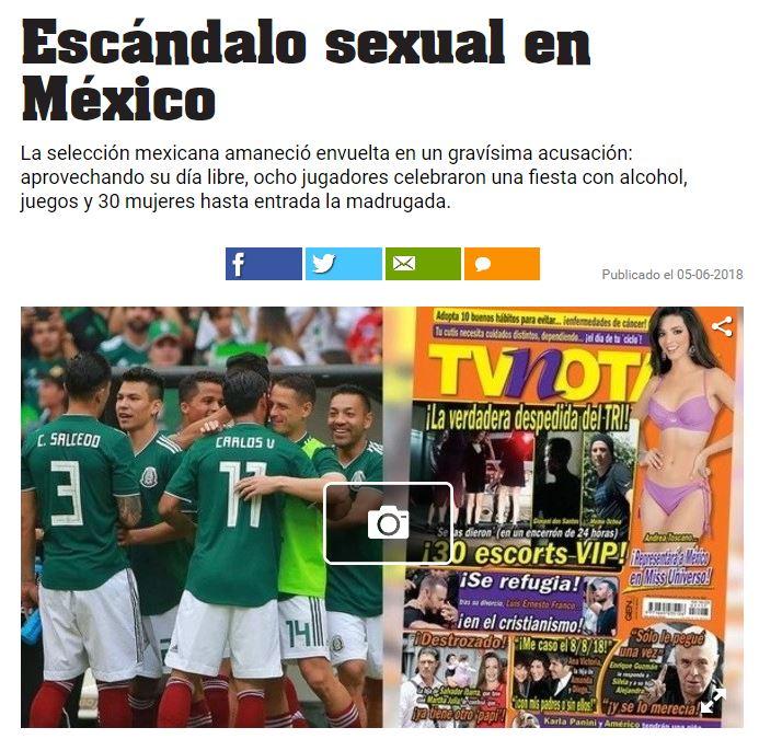 Así publicó la noticia el diario argentino Olé 8148f76e89307