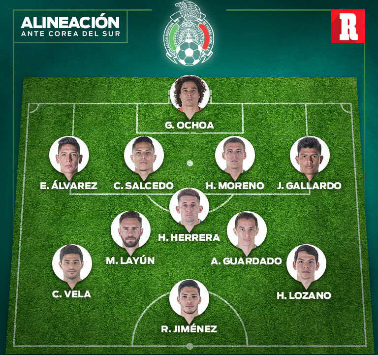 Osorio colocó a los seleccionados de esta manera durante la práctica