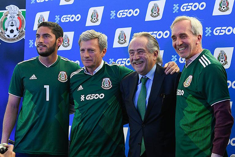 El Grupo G500 fue uno de los tantos aliados comerciales que De María logró para el Tri