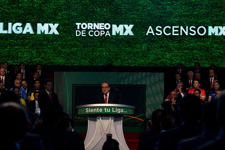 El directivo presentó la nueva Liga MX en 2012