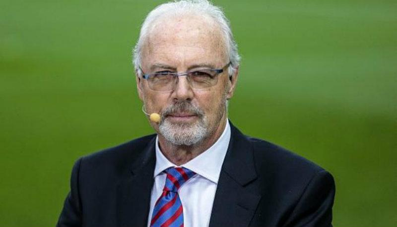 Franz Beckenbauer durante un entrevista