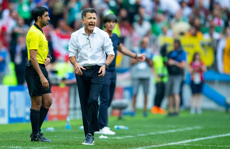 Osorio, durante el duelo entre el Tri y Alemania