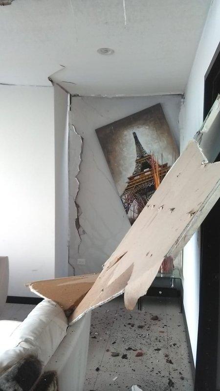 Casa de Gallese sufre daños tras explosión