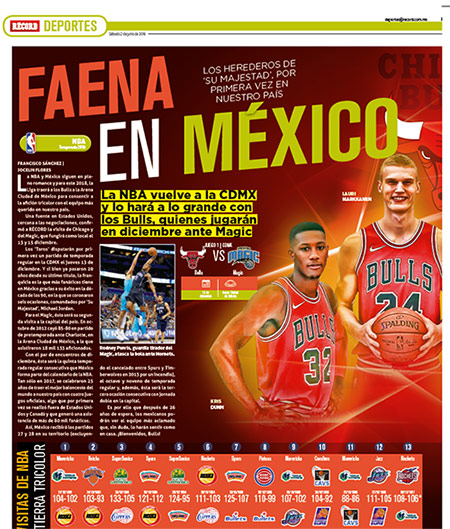 NBA hace oficial partidos para México en 2018