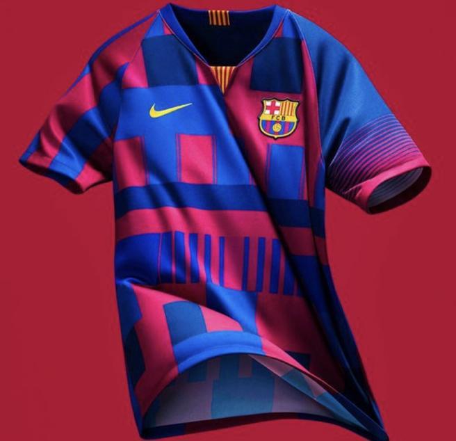 Nike lanza jersey para conmemorar sus 20 años con el Barça  3b5112b3896