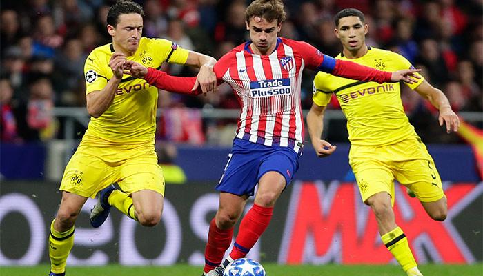 Griezmann en duelo ante el Dortmund